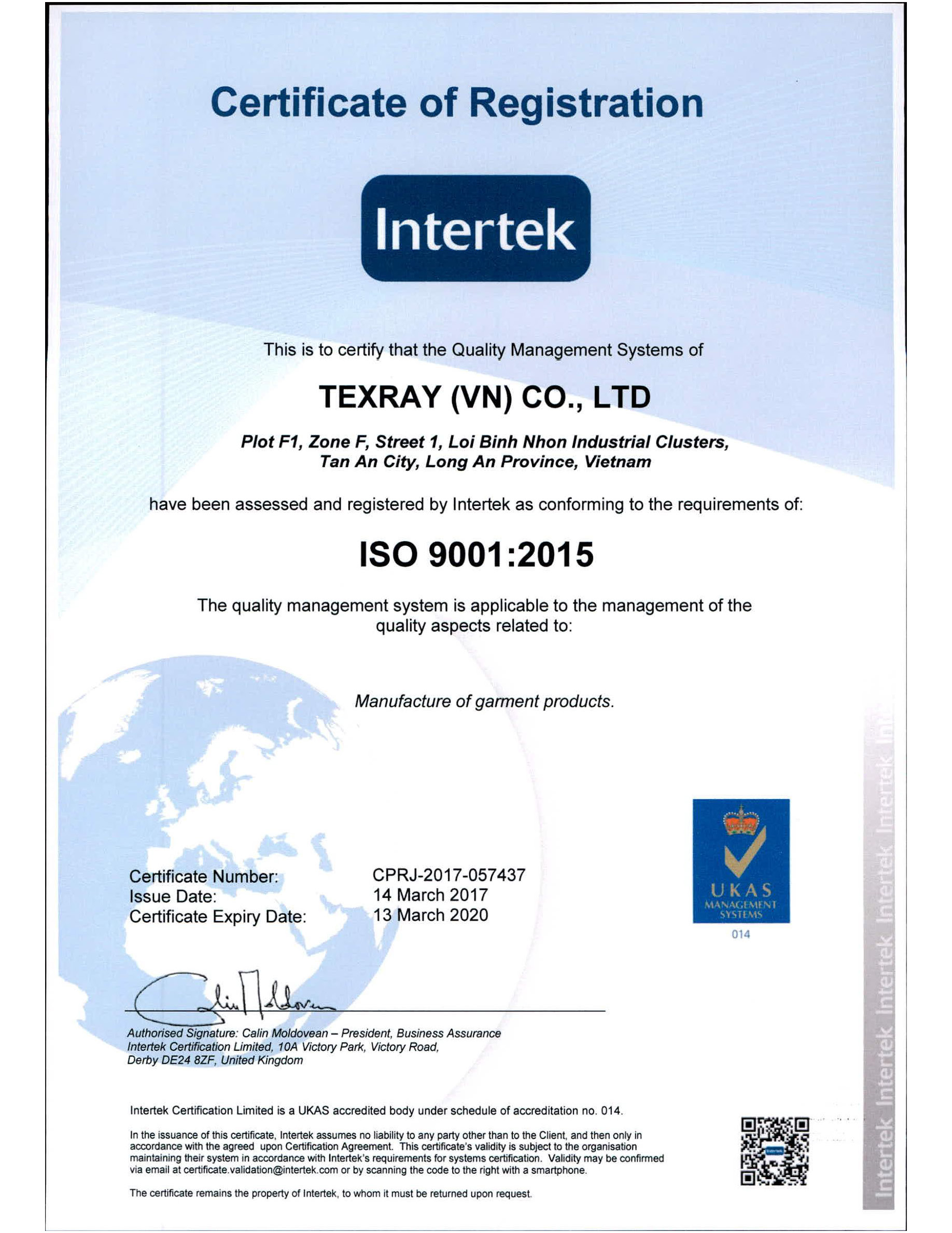 Certification And Awards Tex Ray