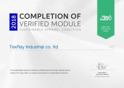 Higg FEM certificate
